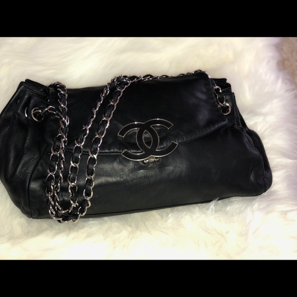f482ac9ab0f7 CHANEL Bags | Leather Chain Black Lambskin Shoulder Bag | Poshmark